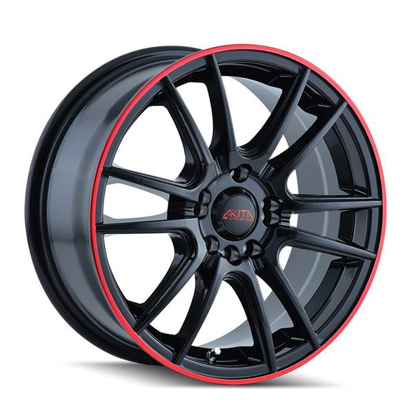 Akita AK77 477 Black with Red Stripe