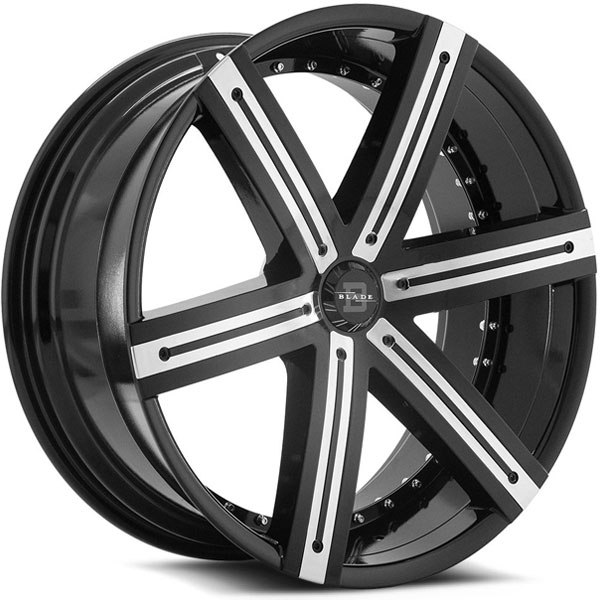Blade BRVT-454 Sargon Gloss Black with Chrome Inserts