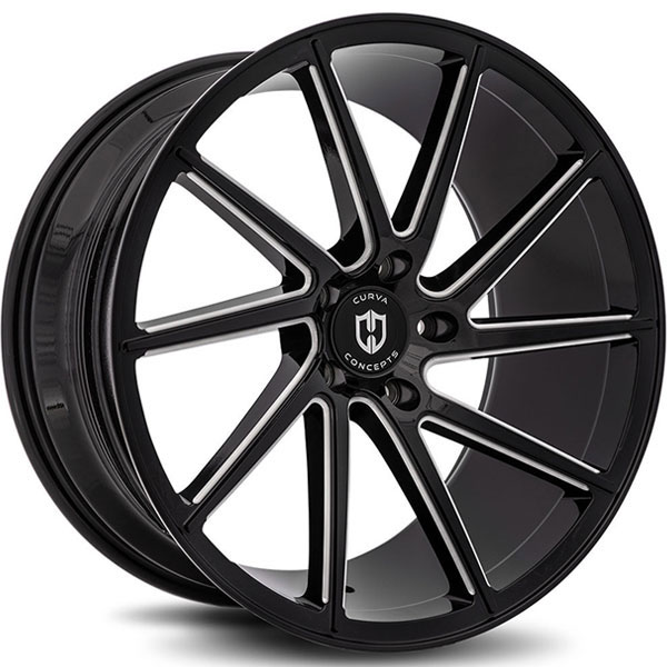 Curva Concepts C22 Gloss Black with Milled Spokes