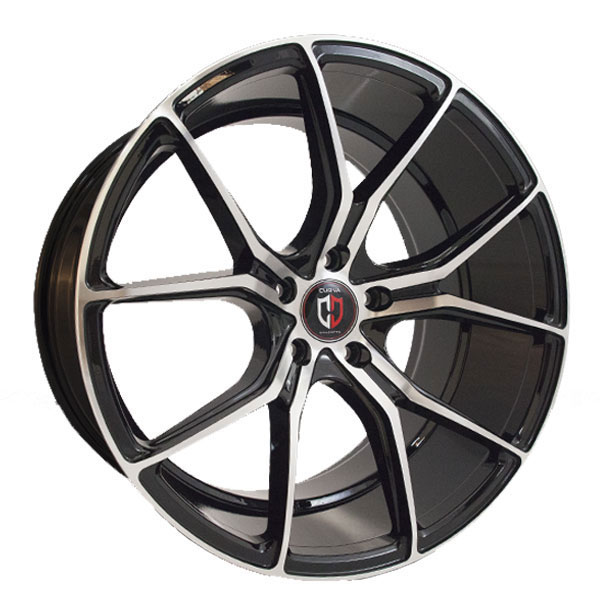 Curva Concepts C42 Black with Machined Face