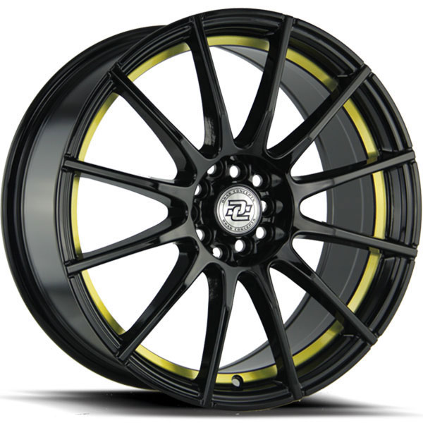 Drag Concepts R16 Gloss Black with Yellow Undercut