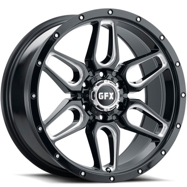 G-FX TR18 Gloss Black with Milled Spokes