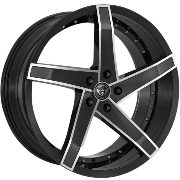 Gima Vortex Black with Machined Spoke Edges