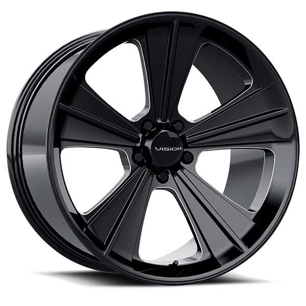 Hurst HT327 Missile Gloss Black with Milled Spokes