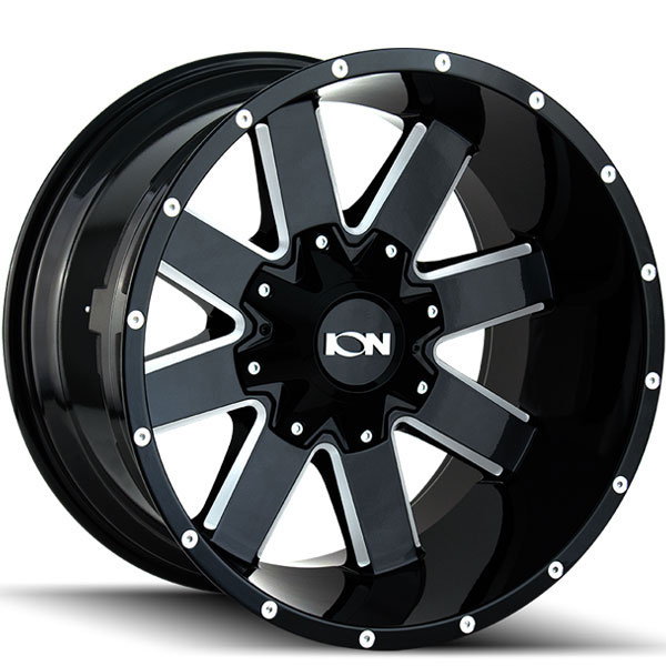 Ion Alloy 141 Black with Milled Spokes