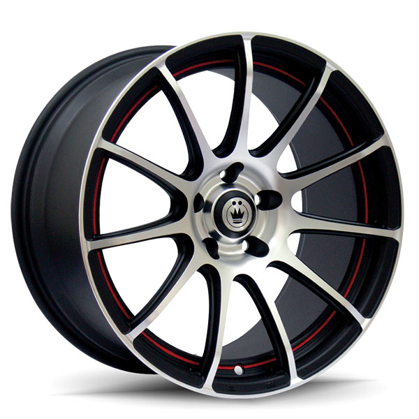 Konig Z-IN Matte Black with Machined Face and Red Undercut