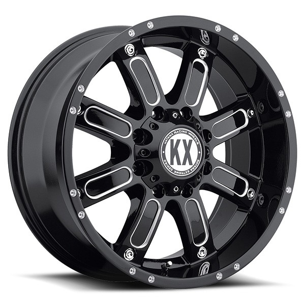 KX CP71 Gloss Black with Milled Spokes