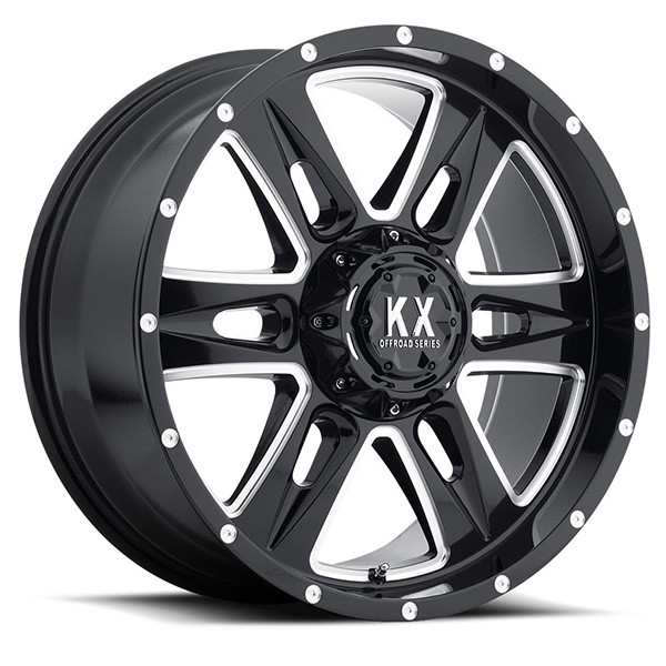 KX CP78 Gloss Black with Milled Rivets