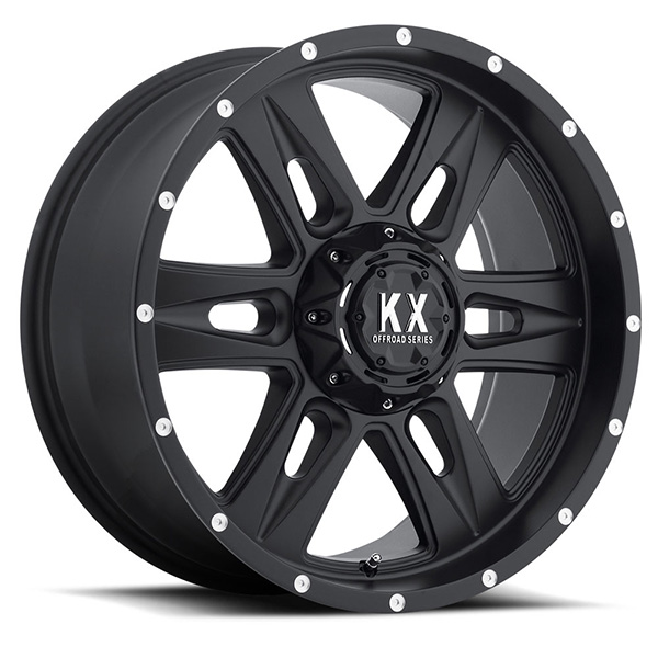 KX CP78 Matte Black with Milled Rivets