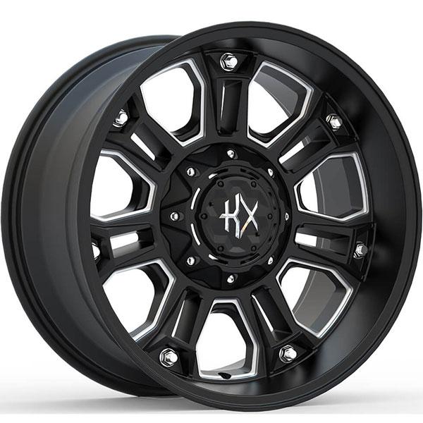 KX Offroad KX12 Matte Black with Milled Spokes