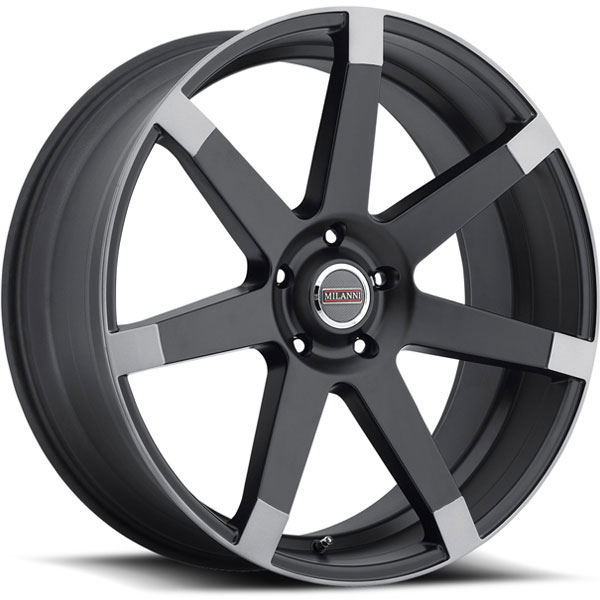 Milanni 9042 Sultan Matte Black with Anthracite Spoke Ends