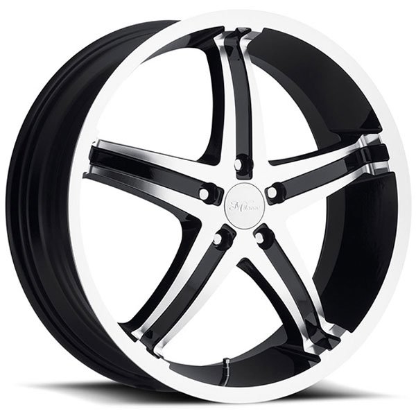 Milanni Kool Whip 5 446 Gloss Black with Machined Face
