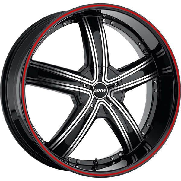MKW M103 Black Machined with Red Stripe