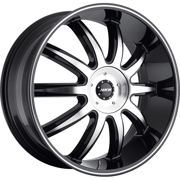 MKW M112 Gloss Black with Machined Face and Stripe