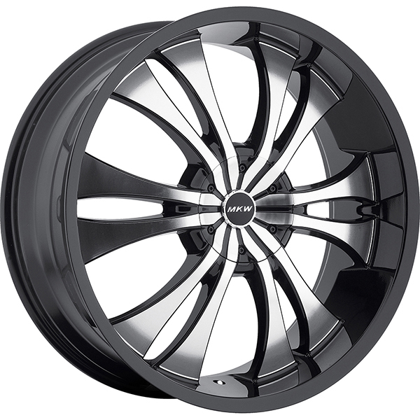 MKW M114 Gloss Black with Machined Face and Black Lip