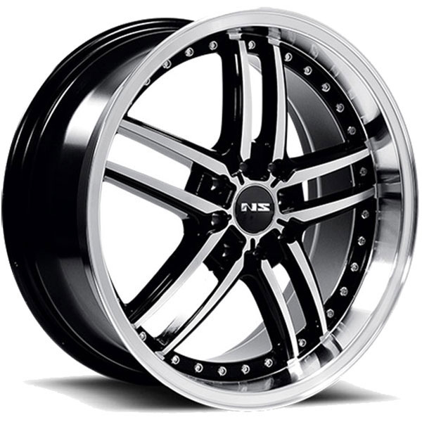 NS Series NS9005 Black with Machined Face and Lip