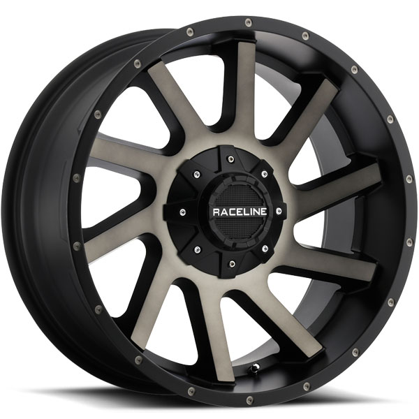 Raceline 932DM Twist Satin Black with Dark Twist