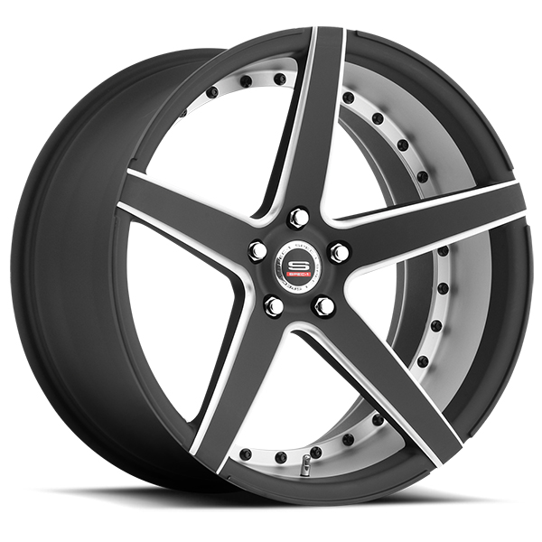 Spec-1 SPM-76 Gloss Black with Milled Spokes