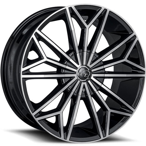 VCT Viper Gloss Black with Milled Spokes