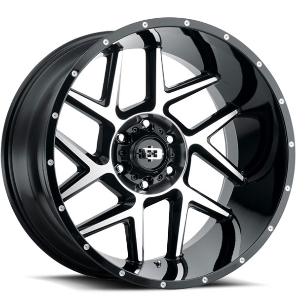 Vision 360 Sliver Gloss Black with Machined Face