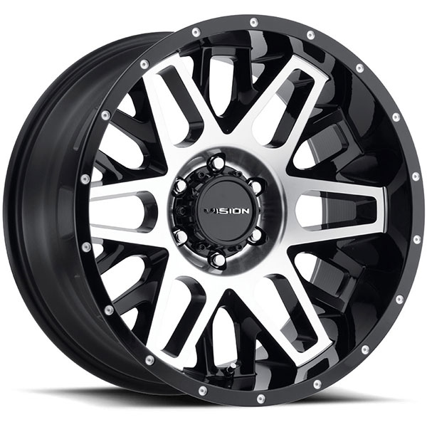 Vision 388 Shadow Gloss Black with Machined Face