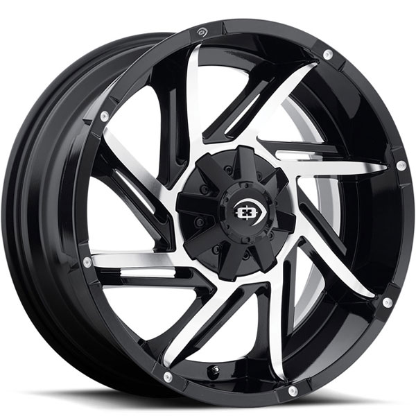 Vision 422 Prowler Gloss Black with Machined Face