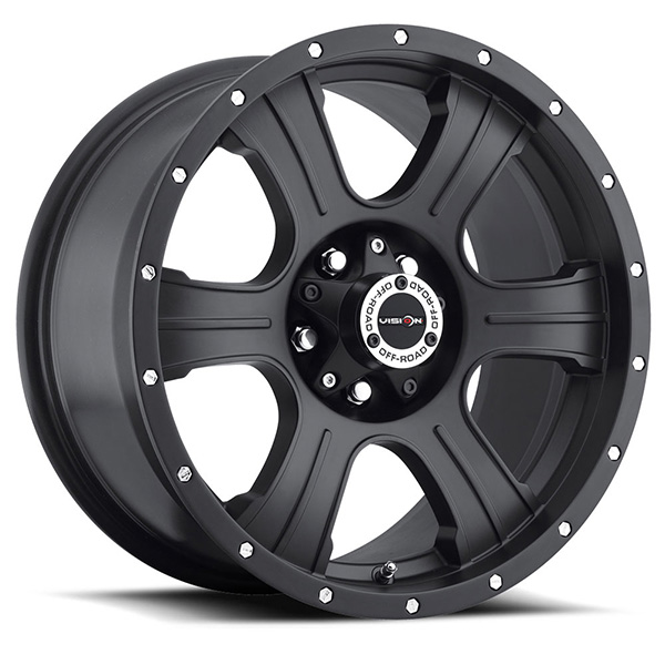 Vision Off-Road 396 Assassin Matte Black with Rivets