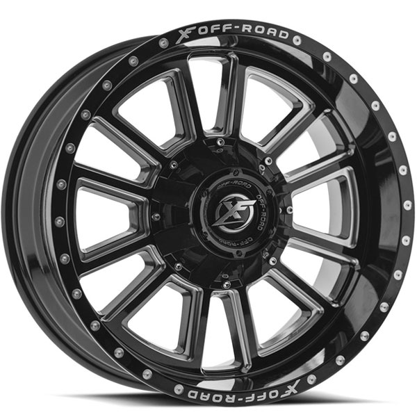XF Off-Road XF-225 Gloss Black with Milled Spokes